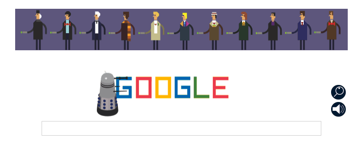 Doctor Who Google Doodle 1