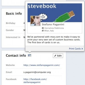 facebook moo timeline business cards