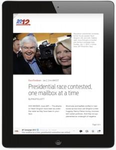 flipboard associated press deal presidential 2012