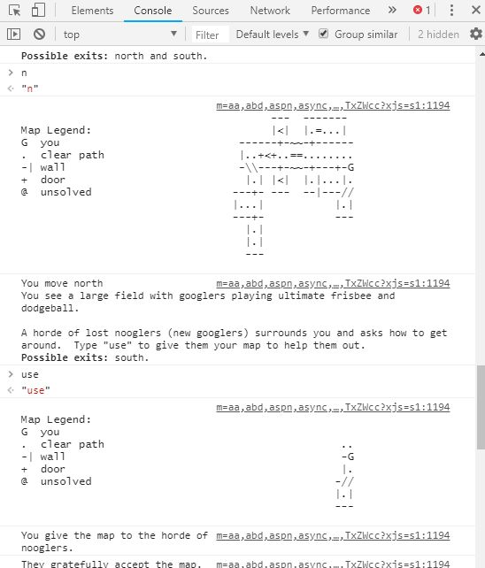 google text adventure in browser