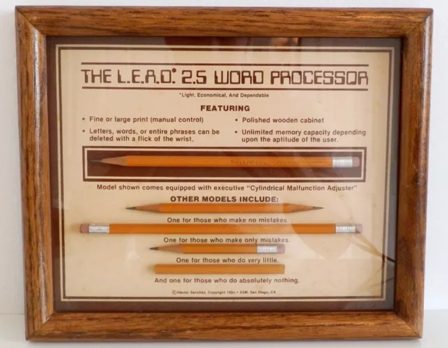 lead pencil word processor