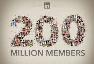 linkedin 200 million members 2013