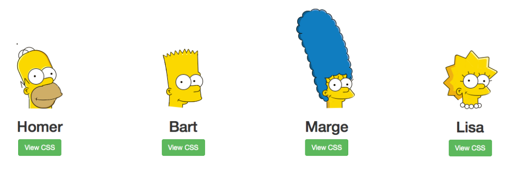 simpsons in css
