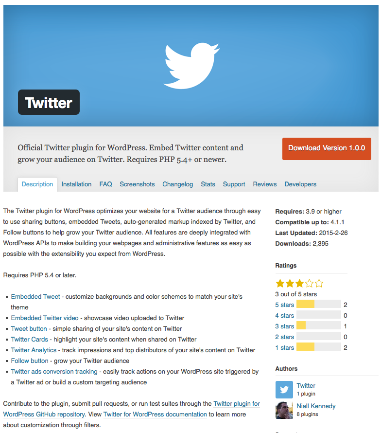twitter wordpress plugin 2015